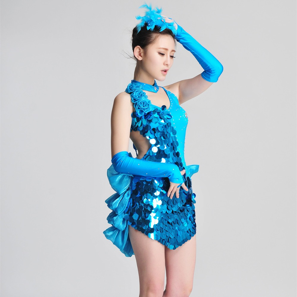 [every day special] Latin costumes performance grading Sequin Garments can be customizedОдежда и ак�е��уары<br><br><br>Aliexpress