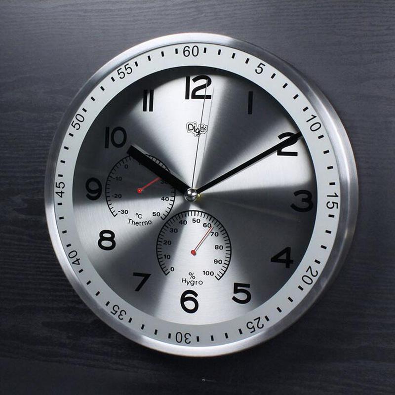 Wandklok thermometer promotie winkel voor promoties wandklok thermometer op - Kantoor deco ...