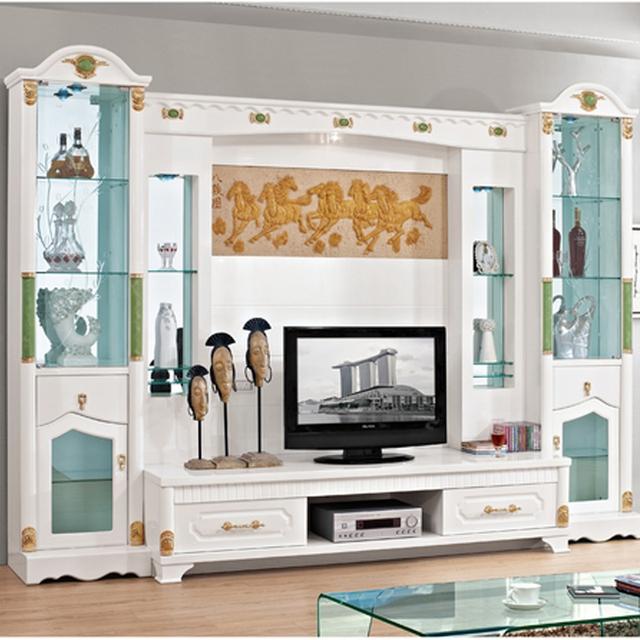 Simple meuble tv caf refroidisseur de vin combinaison de table tag re en verre peinture - Meuble tv simple ...