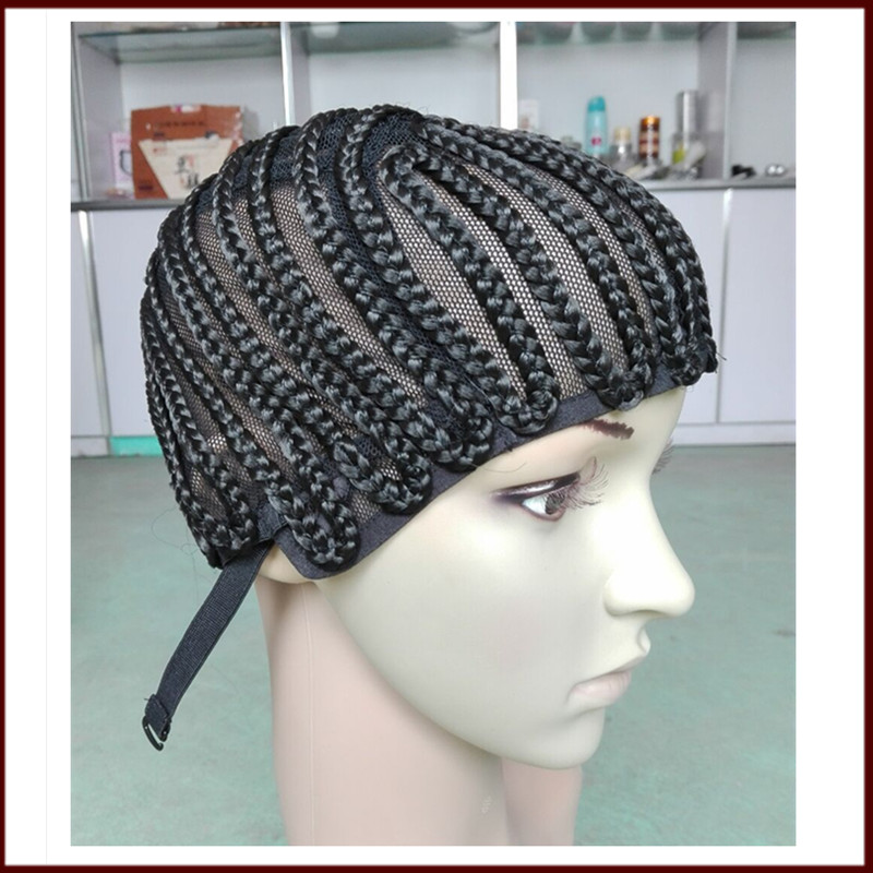 Crochet Hair On Net Cap : Wig Cap With Adjustable Stretch 1Pcs Wig Sewing Cap Crochet braids ...