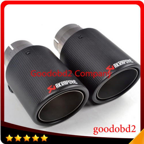 Exquisite style! Inlet (63mm) Outlet (101mm) Akrapovic Carbon Fiber Exhaust End Tips Exhaust pipe For  Audi VW Accessories<br><br>Aliexpress