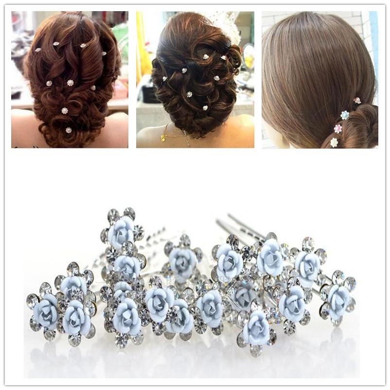 20 pcs set Crystal Pearl Bridal Wedding Prom Hair Pins Hair Accessory Hair Clip Fashion Hair