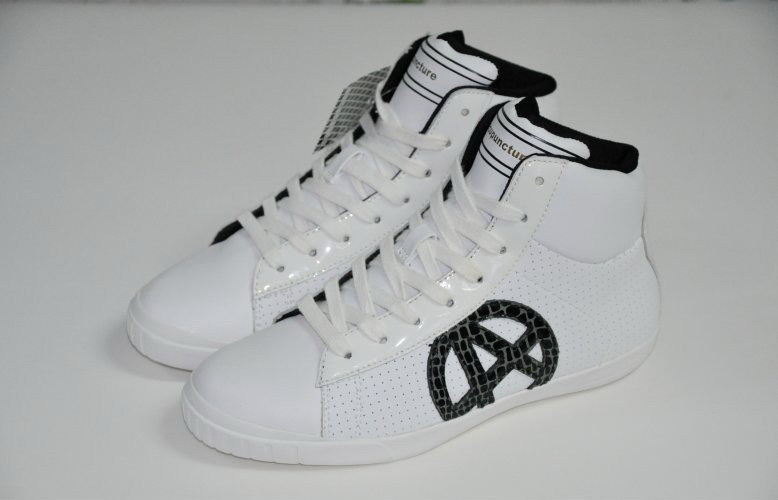 New arrival women and men unisex England style white fashion sneaker genuine leather logo high shoes(China (Mainland))