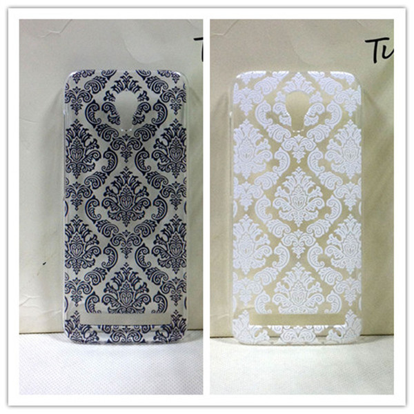 Vintage Black &White Paisley Flower Hard Floral Plastic Cases Skin Cover Alcatel One Touch Idol 2 Mini S 6036 6036Y - INSOU Group Co;Ltd store