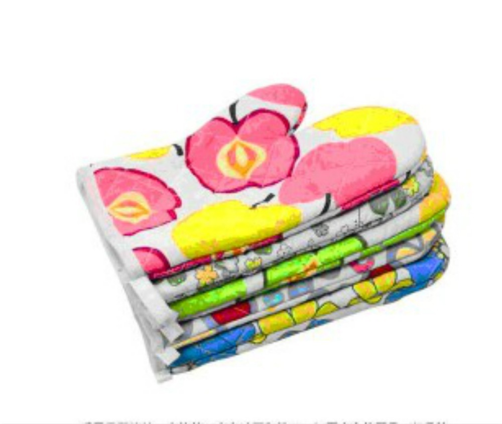 Oven Mitts Potholder Gloves Cooking Tools Grill Microwave Baking Glove Kitchen Cake Tools High Temperature Resistant 1set/lot(China (Mainland))