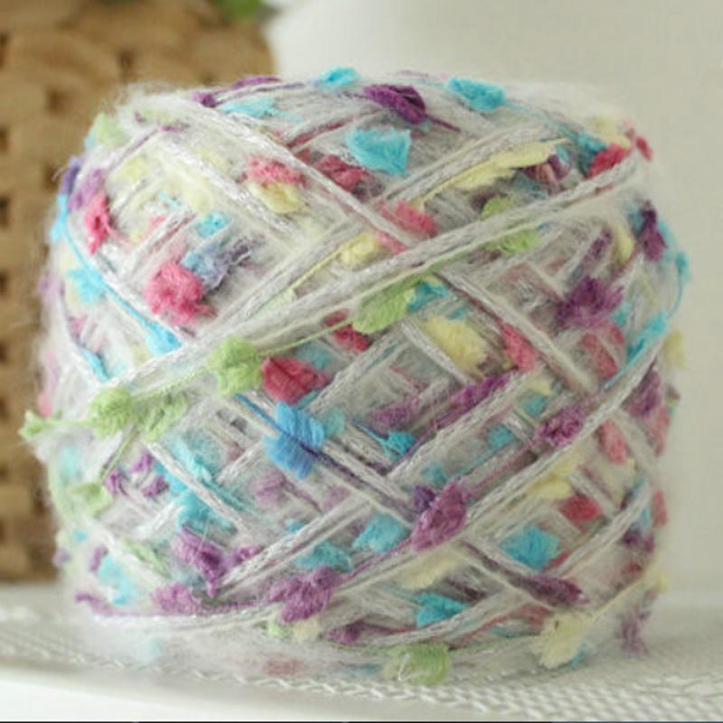 300g/lot hand knitting Crochet knitting yarn for knitting wholesale Sequins yarn weave knitting Winter Warm Laine A Tricoter t4(China (Mainland))