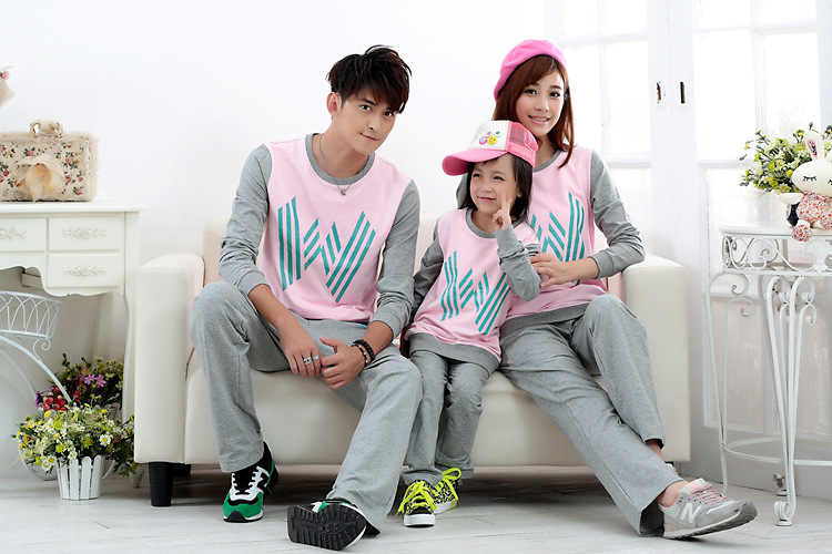 Korean Family Matching Outfits  Parents&amp;kids clothes family 100% cotton Sweatshirts family  Casual Hoodies clothes Sportswear  <br><br>Aliexpress