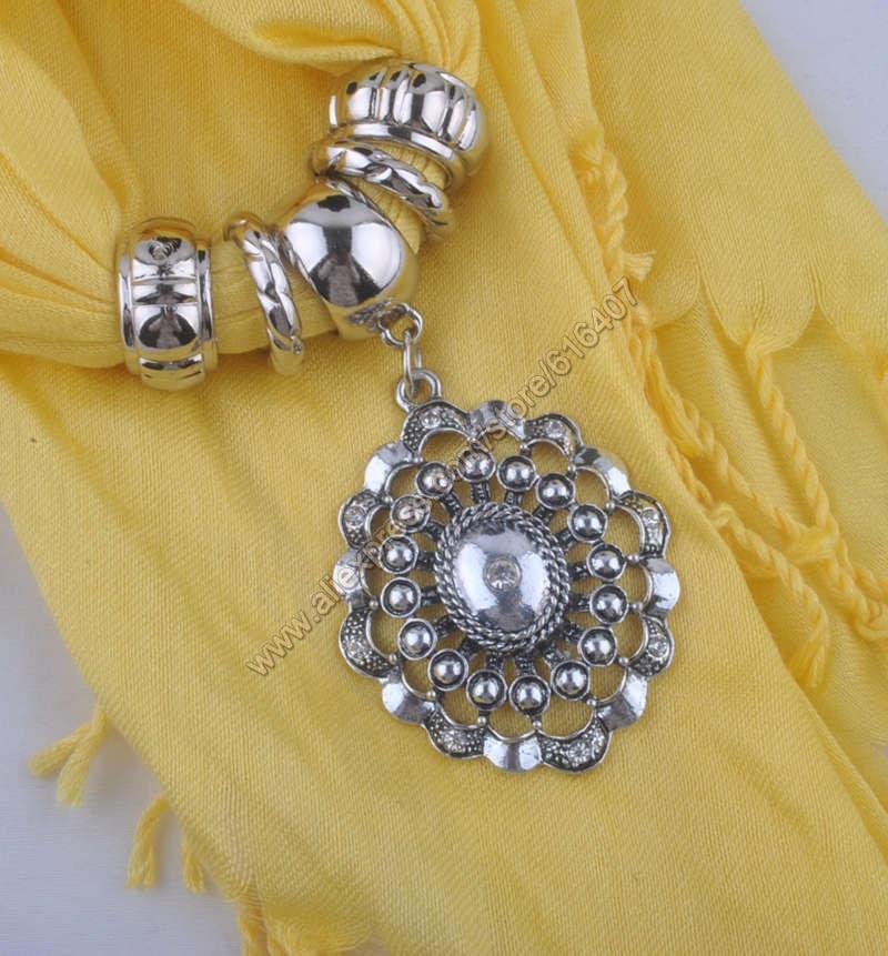 Free Shipping Fashion pendant scarf leopard Jewelry Scarf Necklace Yarn Cotton Scarves tassel shawl pashmina,27colors(China (Mainland))