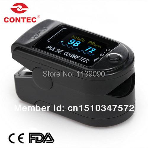 Cheap New Design CMS50D Home Use Black Fingertip Pulse Oximeter With Color OLED Display(China (Mainland))