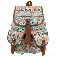 Fashion National Style Women Bookbags Canvas Printing Backpack School Bags Backpacks for Teenage Girls Female Mochila Escolar(China (Mainland))