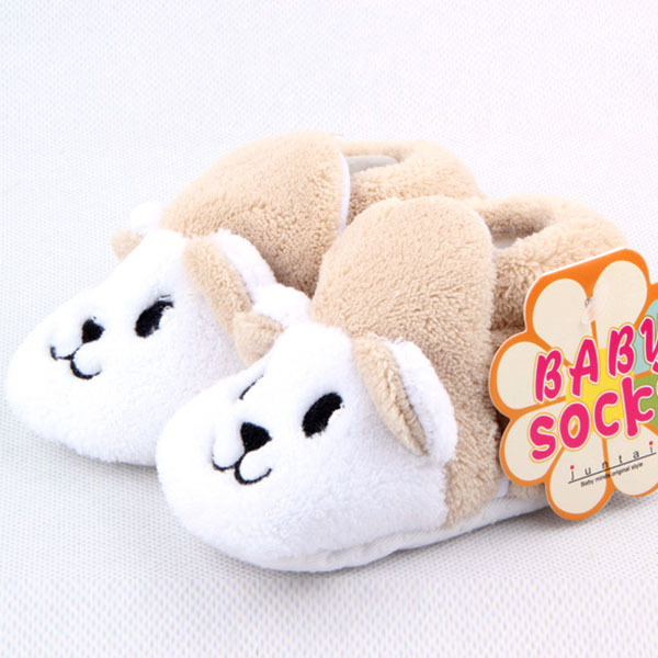 Baby Infant Cotton Shoes Boy Girls Animal Soft Sole Cozy Toddler Shoes Socks(China (Mainland))