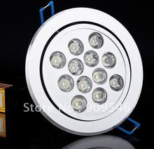 Free shipping 12pcs high power LED ceiling light / 12*2W acrylic cover LED Ceiling Light(China (Mainland))