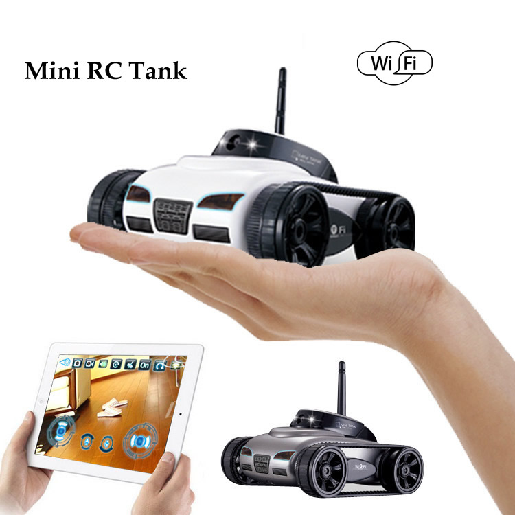 Free Shipping  Rover App-Controlled Wireless 4Ch i-Spy Tank With Camera for iPhone, iPod Touch and iPad/RC Toy Car F04110 FSWOB