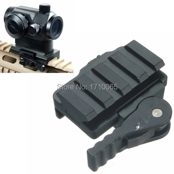 Aluminum Compact Tactical QD Quick Release Mount Adapter 5 Slots Fit 20mm Picatinny Weaver Rail Base Hunting Accessories(China (Mainland))