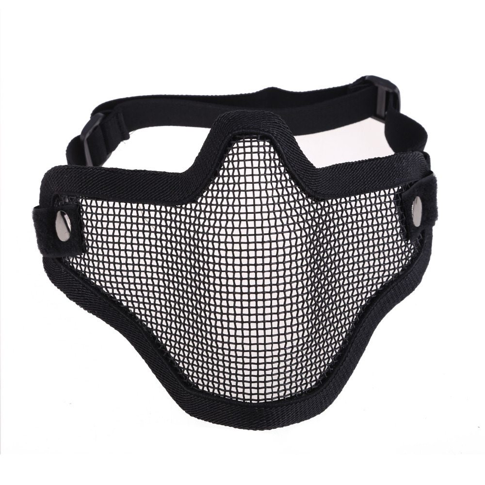 New Tactical Hunting Metal Half Face Mask Mesh Airsoft Paintball Protective CLSK(China (Mainland))