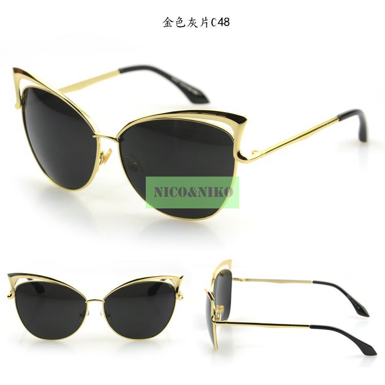 6 colors star style metal frame coating eyewear glasses 2015 new vintage fashion sunglasses What style glasses are in fashion 2015