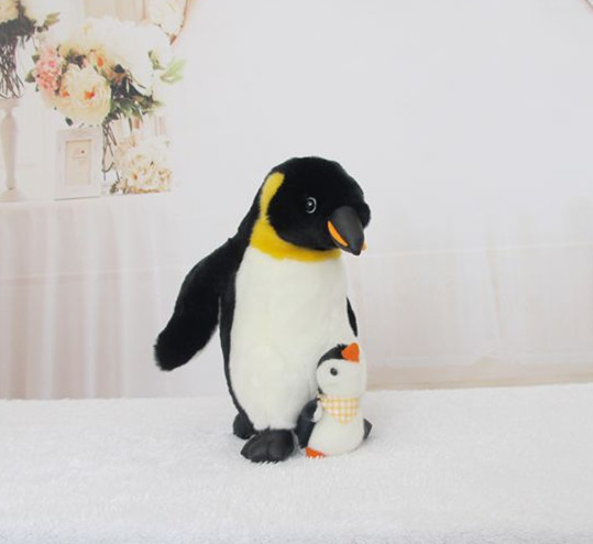 Plush toys Penguin mother and son soft and stuffed animal toys kid dolls 2pcs/set(China (Mainland))