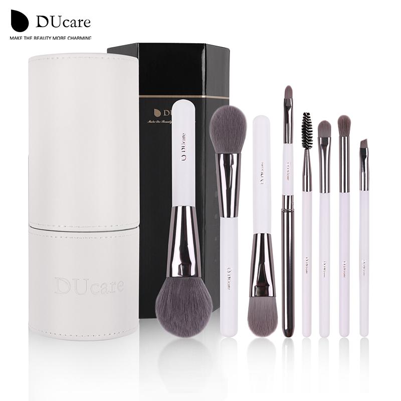 DUcare Makeup Brushes set Foundation eyeliner Eyebrow Lip Brush Tools cosmetics Kits make up kwasten Brush Set with White Holder(China (Mainland))