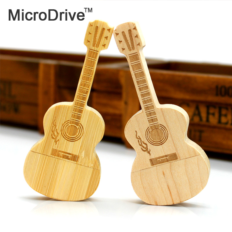 Exquisite wooden guitar USB Flash Drive USB 2.0 Pen Drive USB Flash Disk 64GB 32GB 16GB 8GB(China (Mainland))