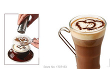 Barista Stencils Template Fashion Cappuccino Coffee Strew Pad Duster Spray Tools Free shipping 16Pcs Set
