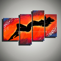 Large Abstract decorative wall panels naked women 4 piece canvas art handmade sexy nude art oil