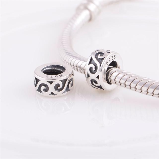 Аутентичные стерлингового серебра 925 бусины мода S шаблон шарм женщины DIY ювелирных изделий подходит Chamilia европейский шарм браслет