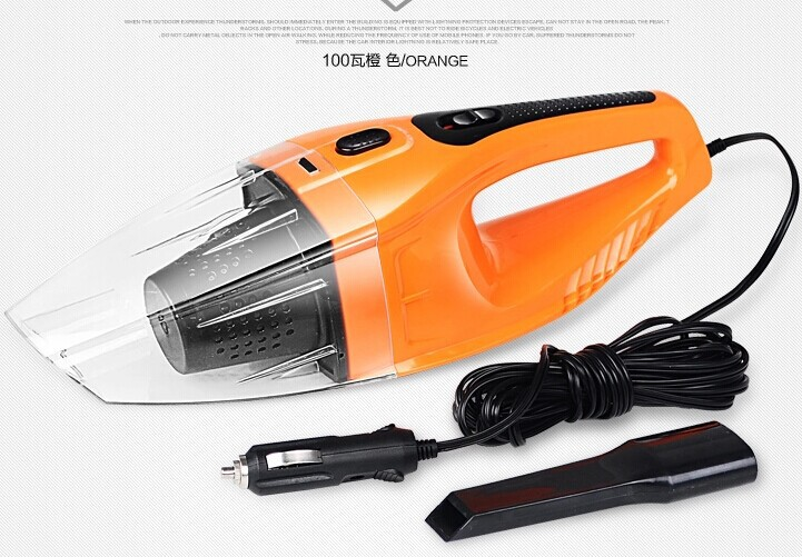 Hot Sale Car vacuum cleaner wet and dry dual-use super suction 5meters 12v,100W tile strong car vacuum cleaner free shipping(China (Mainland))