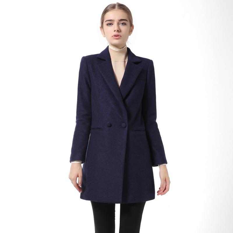 manteau femme 2017 winter jacket women wool coat female long sleeve slim woolen outerwear 541125 - Violet Apparel store