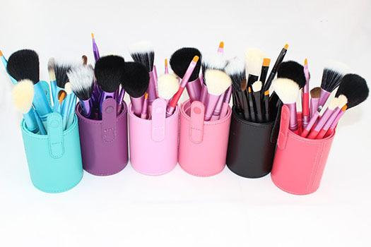 12 Pcs Women Professional Makeup brush Set+Cup holder Cosmetic Brushes For Makeup Pincel Maquiagem Makeup Brush Tools Kits(China (Mainland))