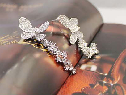 2016 goddess temperament simple fashion accessories business meteor butterfly tassel earrings - fly together(China (Mainland))