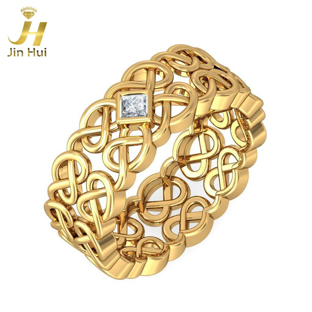 jinhui women the niamh ring for her solid 18k yellow 750 gold natural diamond jewelry. Black Bedroom Furniture Sets. Home Design Ideas