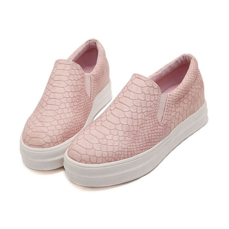 2016 autumn casual soft flats shoes pink