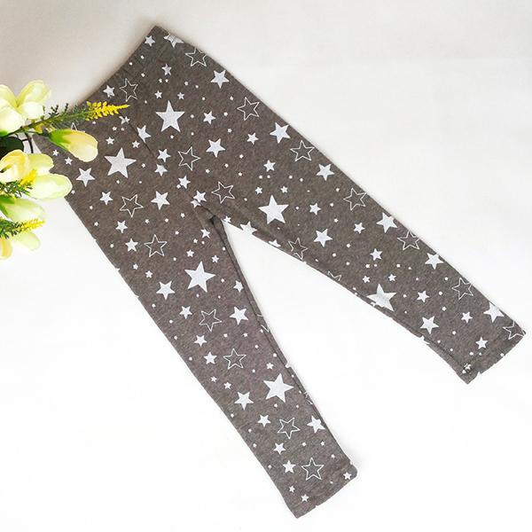 Zehui Trendy Kid Girls Stretchy Skinny Leggings Trousers Star Printed Warm Pants