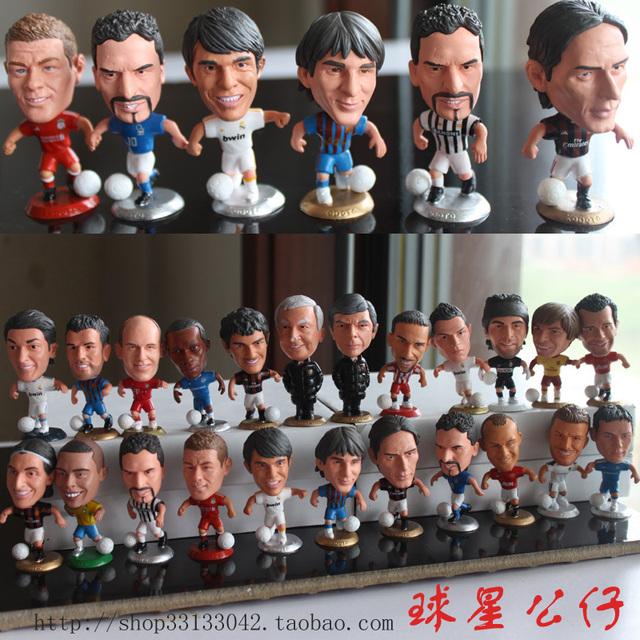 KODOTO football player Doll ( 6 pcs/lot Mix Order) (C RONALDO,MESSI,GERRARD,ROONEY,ARSHAVIN,Van Persie,lampard)
