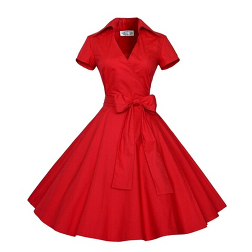 2016 summer audrey 39 hepburn style 1950s 60s vintage retro for Wedding dresses pin up style