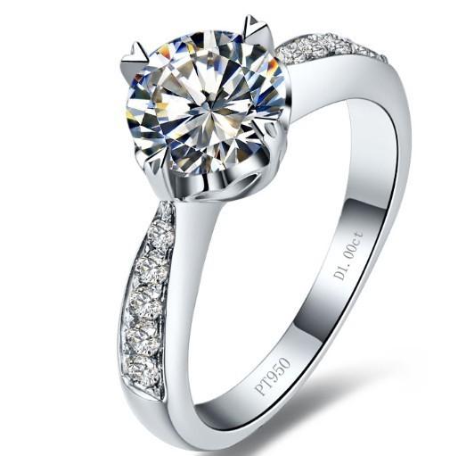 18k Gold Diamond Ring Price Ring 18k White Gold Plated