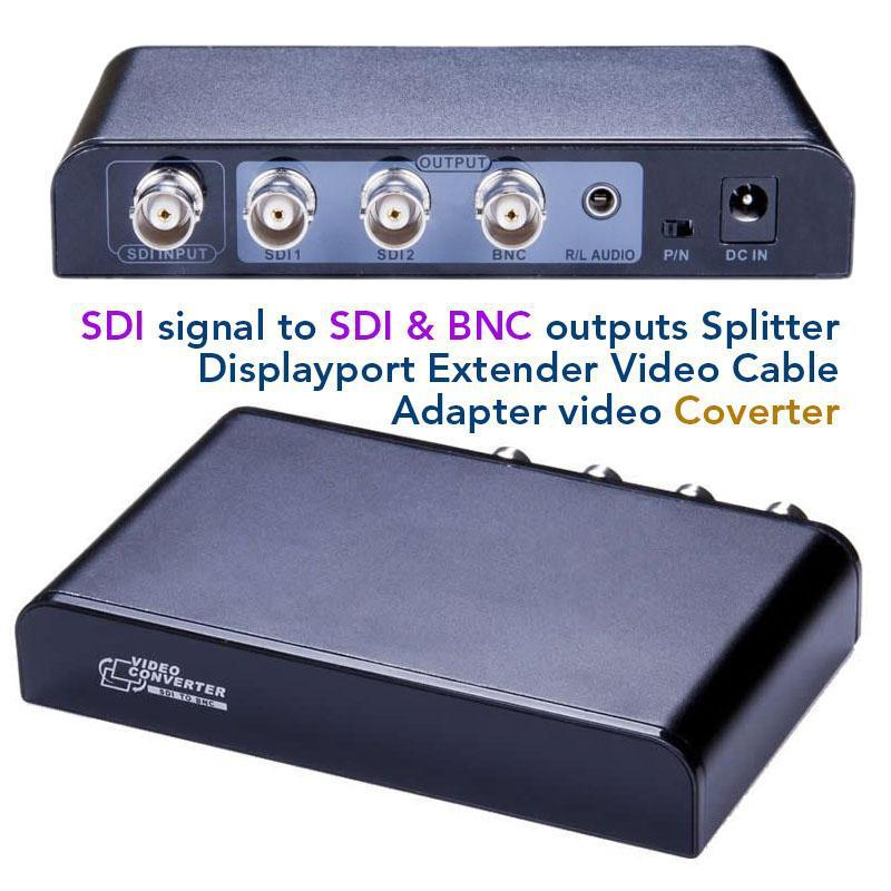 SDI signal to SDI & BNC outputs Splitter Displayport Extender Video Cable Adapter video Coverter supports PAL/NTSC(China (Mainland))