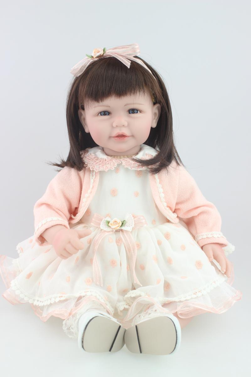 New Arrival 20 52cm Little Girl Plastic Reborn Baby Doll Lifelike Reborn Doll Best Gift to Kid/Child/Baby<br><br>Aliexpress
