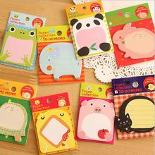 1 Piece Korean Cartoon Animal Sticky Notes Creative Post Notepad Filofax Memo Pads Office Supplies School Stationery Scratch(China (Mainland))