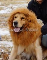 Large Pet Dog Lion neckerchief Collar Wigs Mane Hair Labrador Golden retriever