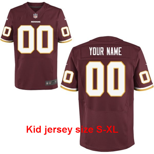 A+++ 100% good feedback Personalized stitched Washington Redskins Customized Any Name And Number Men Women youth kids(China (Mainland))