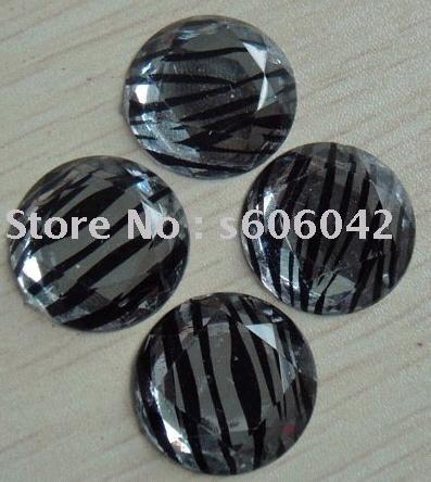 Wholesale - Hair accesories 20mm diamante zebra stones,decoration accessories(China (Mainland))