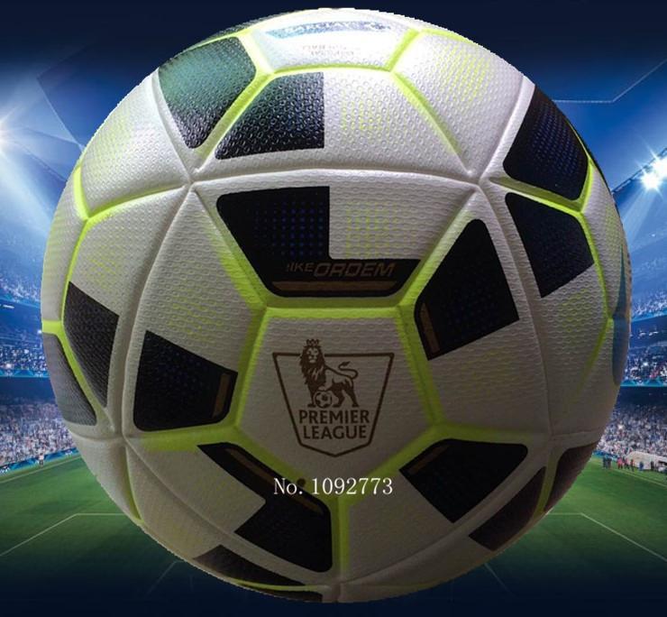 2015  Premier/Span league soccer ball Champion league football Anti-slip granules football ball  PU size 5 balls free shipping(China (Mainland))