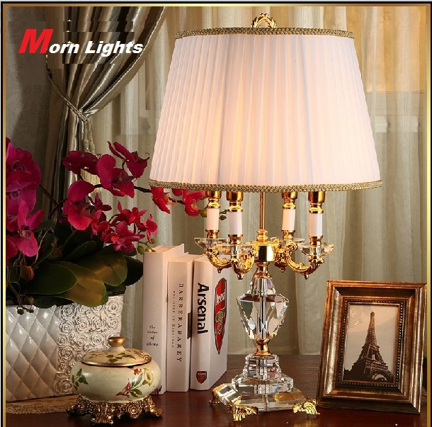 crystal lamp lighting bedroom bedside lamp luxury fashion crystal
