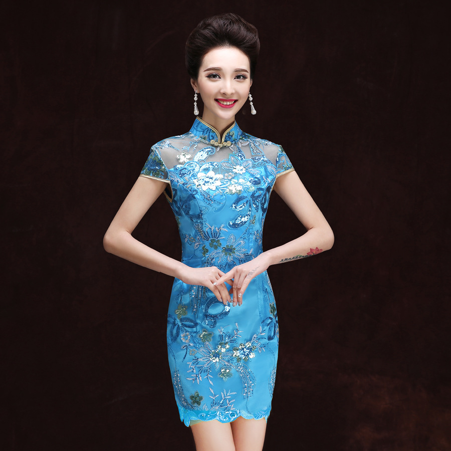 Traditional Chinese Dress Blue | Dress images