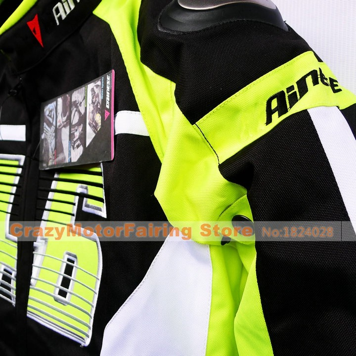 Motorcycle Jacket NO.46 Rossi Racing Suit Cotton Gall Jacket Breathable Waterproof Men Coat With Hard Shell Protective Gear