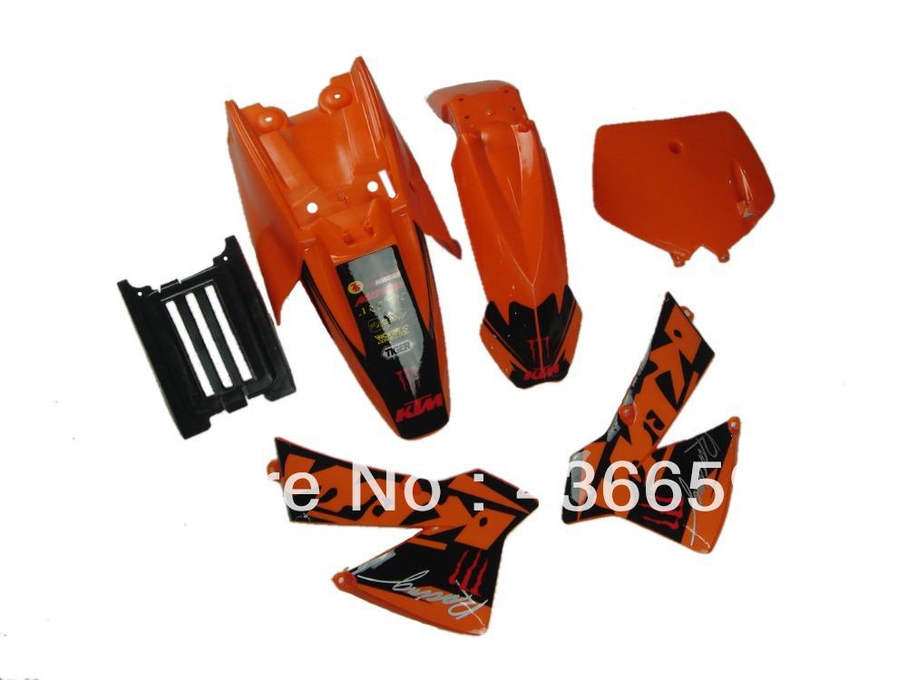 FULL PLASTICS&NEW GRAPHICS STICKERS DECALS KTM SX 50CC 50 50SX KTM50 PIT DIRE BIKE - Billy Huangy's store