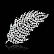 2.5inches Stunning leaf shape Crystal Brooch for wedding women jewelry