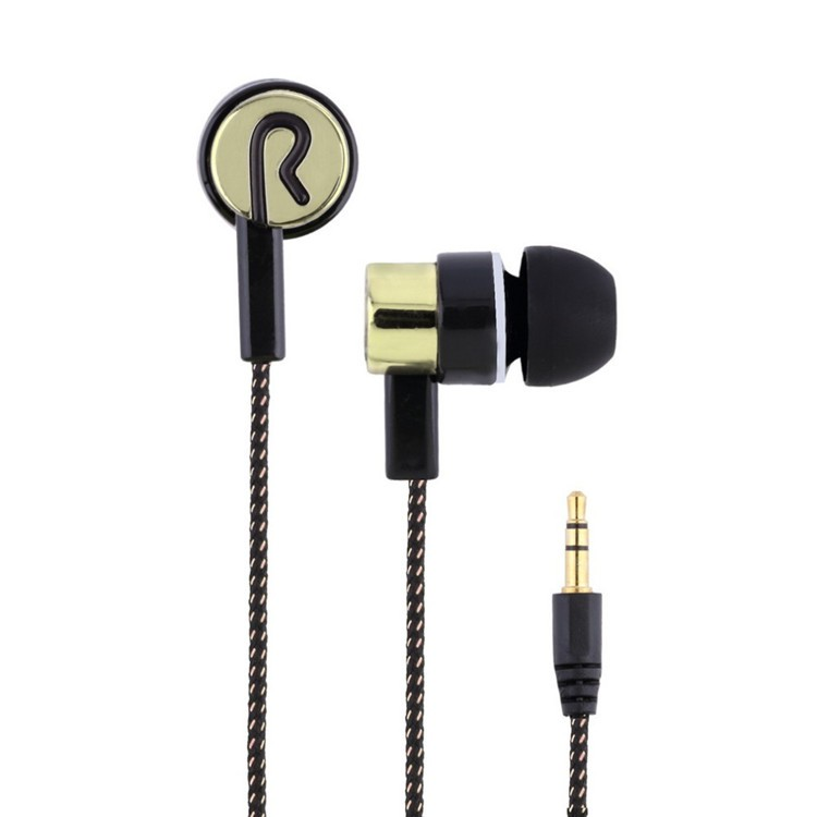 In ear Noise Canceling Headphone Fashion Sport Hifi Earbuds with Cloth Wire Cheapest Earphones for Samsung Phone MP3 Player