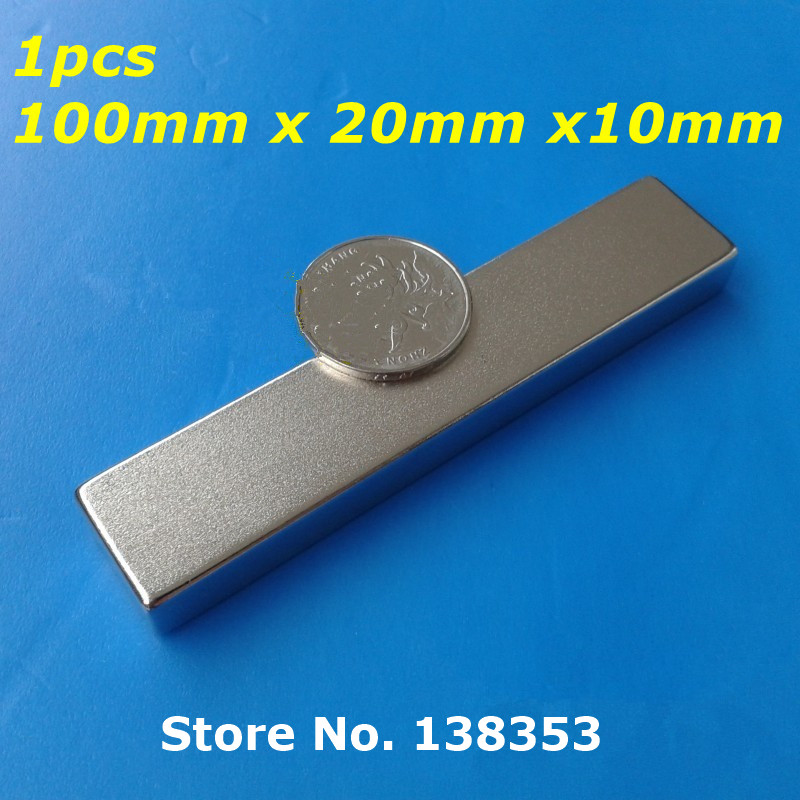 Гаджет  1pcs Bulk Super Strong Neodymium Rectangle Block Magnets 100mm x 20mm x 10mm N35 Rare Earth NdFeB Rectangular Cuboid Magnet None Строительство и Недвижимость